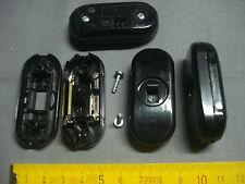 1 interrupteur neuf curseur NOIR, bornes à vis, fil souple, lampe de chevet...