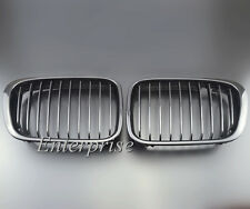 Front Black Wide Grille Grill Kidney f/ BMW 5series E39 525 528 530 540 M5 98-03