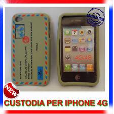 Custodia + Pellicola silicone AIRMAIL GRIGIA per IPHONE 4G