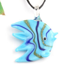 1pc lovely ocean fish Lampwork Glass bead pendant Necklace p868_5