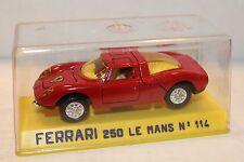 JOAL #114  red - Ferrari 250 Le Mans - 1:43 scale model (Made in Spain) MINT