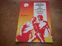 England v Italy official football programme Wembley 15 November 1989 Friendly