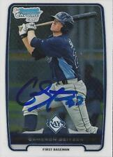 Cameron Seitzer Tampa Bay Rays 2012 Bowman Chrome Signed Card