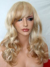 Strawberry Blonde Womens Fashion Curly Fringe real natural full Ladies Wig A7