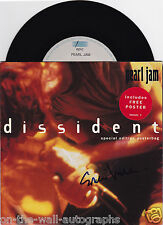 PEARL JAM EDDIE VEDDER HAND SIGNED AUTOGRAPHED DISSIDENT 45! RARE! W/PROOF+COA!
