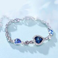 The Sea Love Delicate Fashion Bracelet Crystal Bracelet Ocean Blue Heart Of