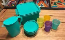 TUPPERWARE GREEN KIDS MINI PICNIC SET IMPRESSIONS JUG CUPS BOWL