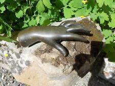 Ancien presse papier en bronze patiné forme main d'enfant fin XIXème
