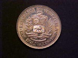 1989 Venezuela 2 Bolivares KM# 43a.2 - Nice Choice BU Collector Coin! - d3531xcx