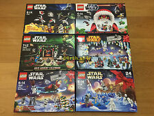 ��NEW�� Lego Star Wars Seasonal Advent Calendars Full Collection ��RARE��