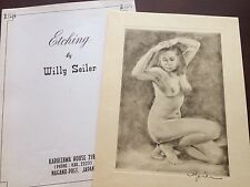Original Willy Seiler Nude Women Etching - From Occupied Japan #8