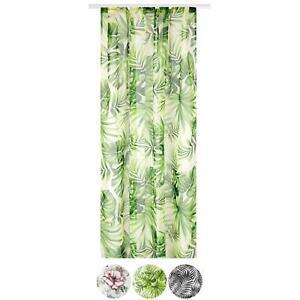 Vorhang in 140x245cm Voile Dekoschal Gardinen Kräuselband Ösen Schlaufen Gardine