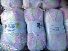 James C Brett DOPPIA Knitting BABY MARMO LANA Cerise LEM 5x100G filato Knit BM20
