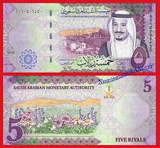 SAUDI ARABIA 5 Riyals riales 2016 (2017) KING SALMAN Pick 38 SC / UNC