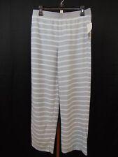Charter Club Sleepwear, Fleece Stripe Print Pajama Pants Awning Gray 2XL #1465