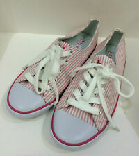 NEW ARRIVAL! RALPH LAUREN POLLY PINK GINGHAM OXFORD SHOES SNEAKERS US 6.5 / 37