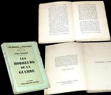 Les horreurs de la guerre Courrier des Pay-Bas 2 1928 Léon Daudet