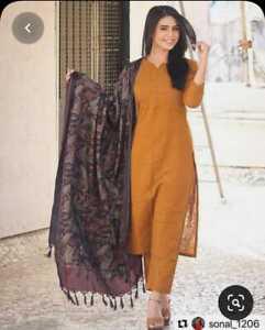 Women Pakistani Salwar Kameez Dupatta Beautiful Salwar Kameez Cotton Kurti Pent