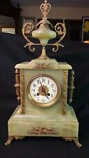 ANTIQUE FRENCH ONYX MANTLE CLOCK