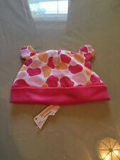 Girls Gymboree Hat Size 3-6 M. Girls Infant Cap  Fuschia, Pink ,White And Orange