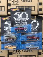 Hot Wheels 2018 50th Anniversary Favorites Set B Cars Gasser T1 Drag Camaro