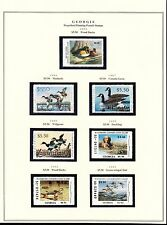 STATE OF GEORGIA HUNTING PERMIT STAMPS 1985-1999 CV $262 BT6300