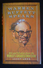 Warren Buffett Speaks by Janet Lowe (1997, Hardback)