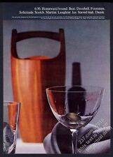 1962 Dansk Jens H Quistgaard modern teak ice bucket photo vintage print ad