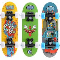 "17"" Children Kids Mini Skateboard, Satchel Double Kick Maple Fun for Beginners"