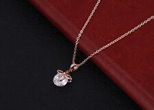 Damen Gold 18K Halskette mit Anhänger Collier Kette lang Diamant EchtSchmuck 33€