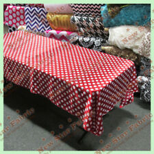 "Tablecloth Rectangle Polka Dot 1"" Charmeuse 58 X 108 Red / White"