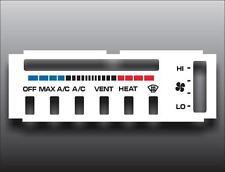 1990-1993 Dodge Ram White Heater Control Switch Overlay HVAC
