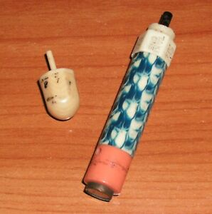 Vintage Celluloid Put and Take Game Miniature Dice Spinning Top Travel WWII
