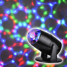 Novelty Moving Multi Coloured LED Projector Disco Party DJ Lights Lamp Light NEW