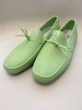 Shudy Men's Moccasin Shoes  - Green in Size UK9 EUR43 RRP £140