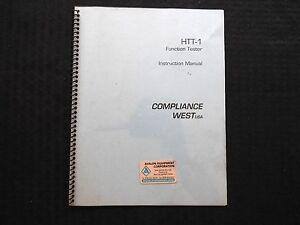 Cumplimiento Oeste HTT-1 Función Probador Manual de Instrucciones Limpiar