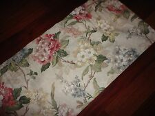 BURLINGTON AZALEA FLORAL CREAM PINK GREEN GOLD TAILORED BLOUSON VALANCE 17 X 80