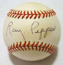 RARE Ray Pepper dec.96 PSA/DNA 1930's St. Louis Cardinals Browns Signed Baseball