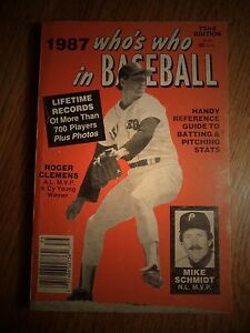 1987 WHO'S WHO IN BASEBALL 72ND EDITION ROGER CLEMENS MIKE SCHMIDT