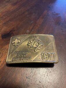BSA Brass Buckle 1977 National Scout Jamboree