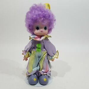 """Precious Moments Clown Doll Purple Toto 15"""" Soft Body Happiness is the Lord Tag"""