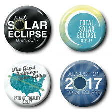 "4-pack Buttons - Total Solar Eclipse - 2.25"" pin badge 8-21-2017"