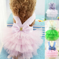 Cute Pet Cat Dog Tutu Lace Dress Skirt Puppy Princess Costume Apparel Clothes US