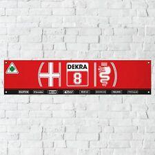 Alfa Romeo Banner Garage Workshop PVC Sign Touring Car Motorsport Track Display