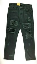 "Afends Black Designer Denim Men's Jeans Actual Size W32"" L30"""