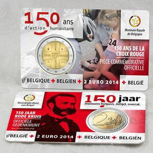 BELGIUM - 2 € Euro 2014 coincard -150th anniv. of the Red Cross in Belgium