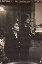 "Original 1980 Poster John Lennon & Yoko Ono Double Fantasy (Beatles) 39"" X 26"""