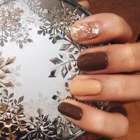 24 Pcs Fake nails art tips nail false full cover manicure decor with 2g glue-NS