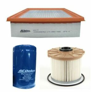 OIL AIR FUEL FILTER SERVICE KIT ACDelco suitable for RC COLORADO 3.0L DIESEL HOL