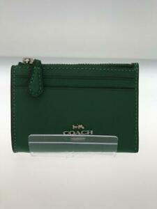 COACH Pass Case Key F88250 Leather Grn Leather Green Coin case 285 From Japan